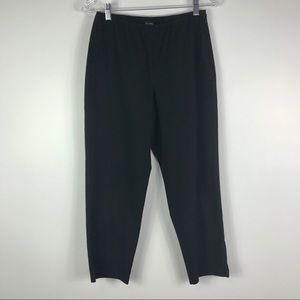 Eileen Fisher black crop straight leg trousers